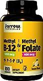 Metil B-12 & metile folato sapore di limone 1000 mcg / 400 mcg (100 pastiglie) - Jarrow Formulas