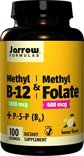 Methyl B12 1000mcg & Methyl Folate 400 mcg   100 vegane Lutschtabletten   glutenfrei   Zitronengeschmack (Mcg 100 Lutschtabletten)