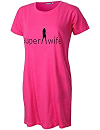 Damen Nachthemd Schlafhemd kurzarm Damen Sleepshirt Damen Pyjama aus 100% Baumwolle softweich Gr. S M L XL