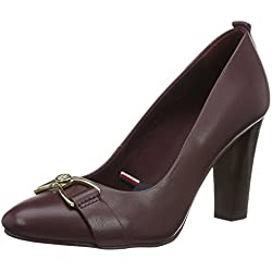 Tommy Hilfiger Damen A1285VERY 25A Pumps, Braun (Decadent Chocolate 296), 39 EU
