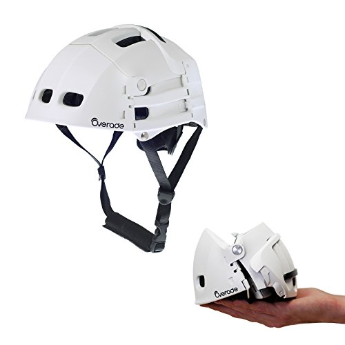 Casque PLIABLE Plixi Fit pour vélo, trottinette électrique, gyroroue, skateboard, roller, VAE - Norme CE EN1078, même protection qu'un casque classique - Volume divisé par 3 (Blanc, L/XL (59-62 cm))