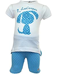 Lee Cooper Juntos Camisa Mangas cortas con Legging Bebé Niñas Dog