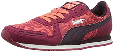 Puma Cabana Racer Animal Jr, Unisex-Kinder Sneakers, Rot (cerise-potent purple-dubarry 02), 35 EU (2.5 Kinder