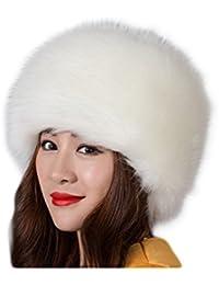 61085e7b6fb89 Fortuning s JDS Sombrero de invierno del estilo ruso de la piel falsa de  las mujeres sombreros