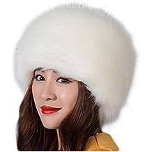 Fortuning s JDS Sombrero de invierno del estilo ruso de la piel falsa de  las mujeres sombreros cc698488d19