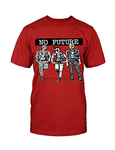 No Future T-Shirt Neu Hero Parker Comic Satire Lustig Fun Funny Held Punk Kult Rot
