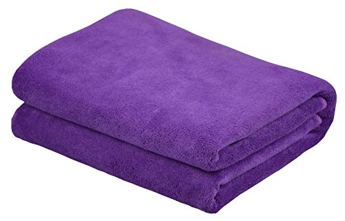 Hope Shine teli bagno microfibra asciugamano spugna asciugamano doccia 80cmX 150cm|Viola