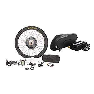 "41Z74LU0buL. SS300  - HalloMotor ebike 48V 1500W 27.5"" Rear Wheel Conversion Kits + 48V 14.5AH Panasonic Cell Tiger Shark Frame Case Battery with 5A Charger"