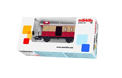Gepäckwagen rot/beige, Verpackung sortiert