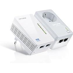 TP-LINK TL-WPA4226KIT - Extensor de red por línea eléctrica WiFi (3 años de garantía, con enchufe, AV500, 2 puertos, sin configuración)
