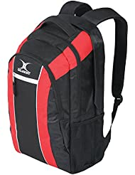 Nuevo Gilbert Rugby Palo Equipaje Mochila Multi Forrado Compartimento Equipo Bolsa De Kit - Negro / Rojo
