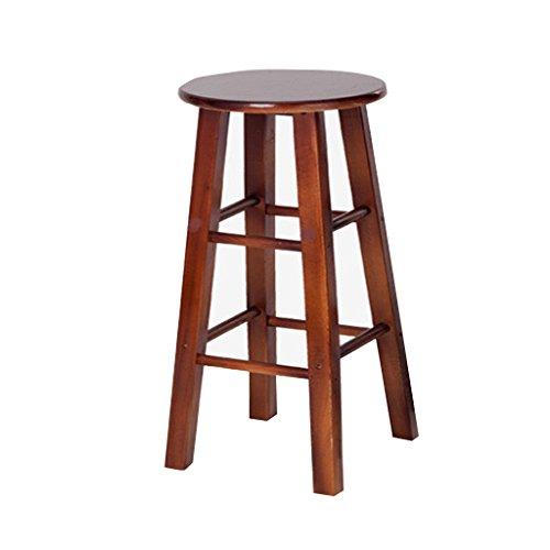 Accueil / Tabouret pour meubles de loisirs intérie Tabouret de bar en bois massif Retro High Tabourets de style en chêne Fashion (Hauteur: 80CM) durable par BZEI-Chair