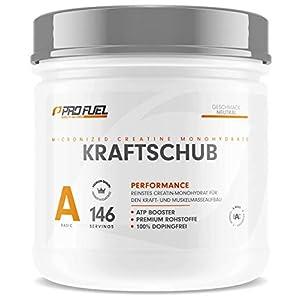 KRAFTSCHUB | Creatin Monohydrat Pulver | 100% Creapure – Weltweit No.1 Kreatin | Geschmacksneutral | 500 g Creatine