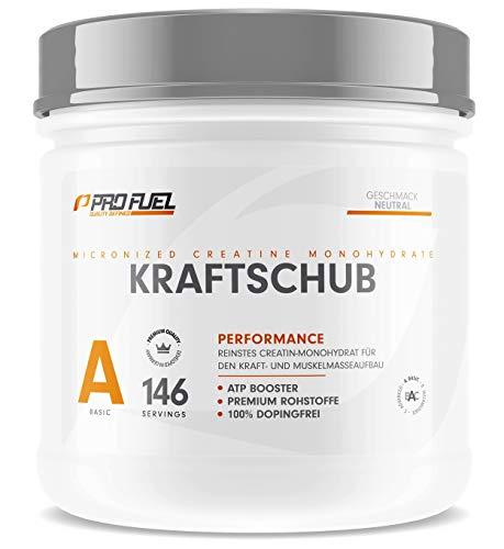 KRAFTSCHUB | Creatin Monohydrat Pulver | 100% Creapure - Weltweit No.1 Kreatin | Geschmacksneutral | 500 g Creatine