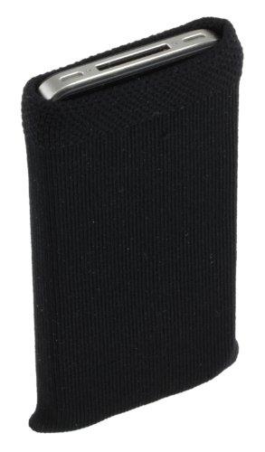 Trendz TZSKBUBK Universal Socke für Apple iPhone/iPod und MP3 schwarz mit rosa Herz Knopf Schwarz mit Glitter-Hearts