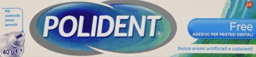 Polident - Adesivo Per Protesi Dentali, Ostacola L'Infiltrazione delle Particelle di Cibo, senza Zinco, Senza Sapore - 40 g