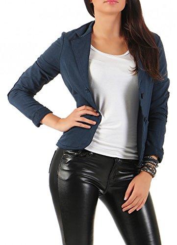 Damen Blazer Vintage Style, mit Taschen ( 545 ), Farbe:Dunkelblau, Blazer 1:42 / XL