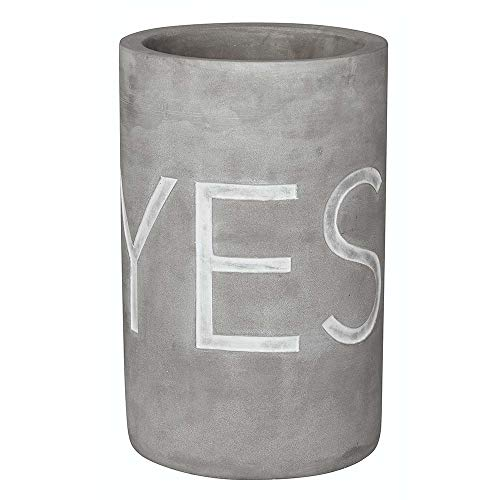 "Räder 13729 PET Vino - Beton Weinkühler - ""Yes why not\"" Ø 13,5 cm - Höhe 21,5 cm"