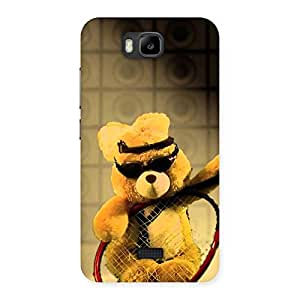 Enticing Teddy Racket Back Case Cover for Honor Bee
