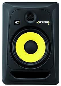 KRK Rokit 8 G3 100W Noir haut-parleur - hauts-parleurs (Studio, 2-voies, 1.0 canaux, Dessus de table/étagère à livres, Devant, Intégré)