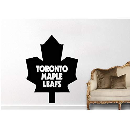 Kanada Toronto Maple Leaf Wandtattoo Mode Wohnkultur Für Kinderzimmer Wohnzimmer Kunstwand Deor Houseware Aufkleber 57X77 cm, Rosa