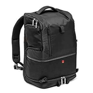 Manfrotto Advanced Camera and Laptop Backpack Tri L for DSLR with External Tripod Connections and Rain Cover - Black