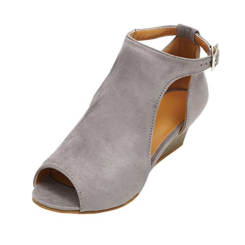 1faf5a35d0a4 Sandals for Women Peep Toe Flat Sandals SayonaraC Lightweight and  Breathable Flat Shoes Elegant Design Beach