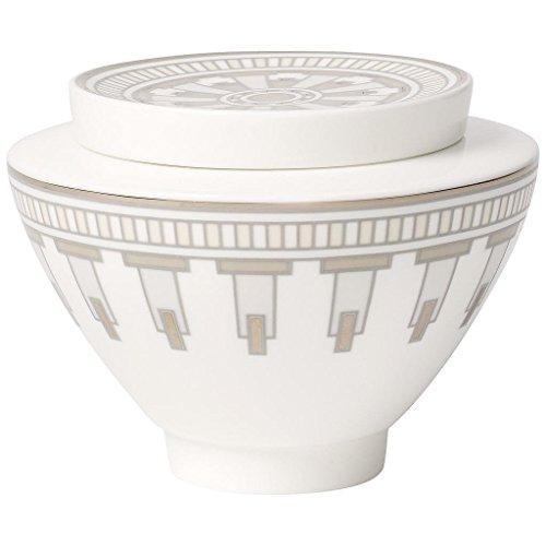 Villeroy & Boch La Classica Grand &Contura Pot à confiture/sucrier pour 6 personnes Blanc