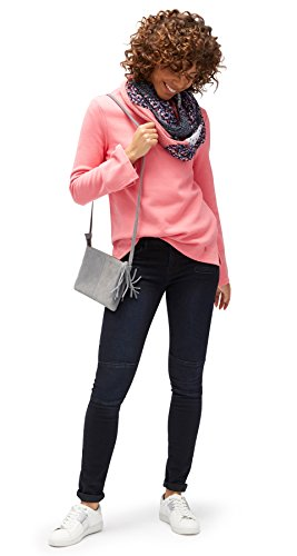 TOM TAILOR Damen Trendy Cosy Sweatshirt dark dusty rose