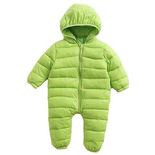 BINIDUCKLING Unisex Jumpsuit Lightweight Snowsuit Hoodie Jacket
