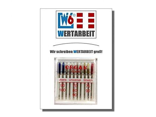 Original W6 Nähmaschinennadel 130 / 705 H Combi Jeans / Universal / Stretch