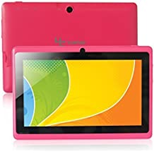 Yuntab Q88 Tablet de 7'' (WiFi, Quad-Core, Android 4.4.2 KitKat , HD 800x480, 32 GB, 4GB ROM, Doble Cámara, Google Play) Color rosa