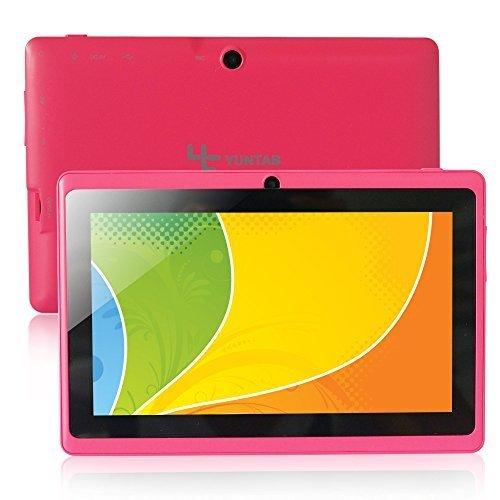 "Yuntab Q88 Tablet de 7"" (WiFi, Quad-Core, Android 4.4.2 KitKat , HD 800×480, 32 GB, 4GB ROM, Doble Cámara, Google Play) Color rosa"