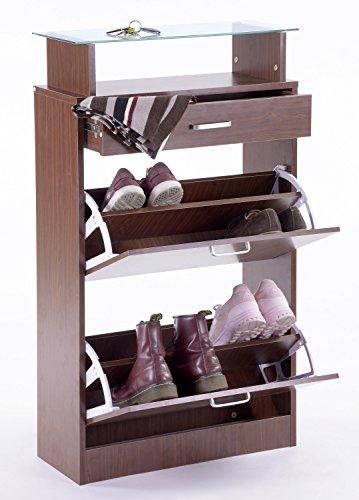 ts-ideen Set di 3 pezzi Guardaroba Scarpiera Mobile per le scarpe ...