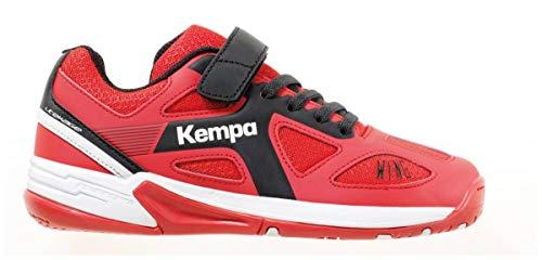 Kempa Unisex-Kinder Wing JUNIOR Ebbe & Flut Multisport Indoor Schuhe, (Lighthouse Rot/Schwarz 06), 29 EU