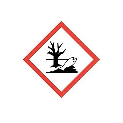 """Gefahrstoffaufkleber """"GHS09: Umweltgefährlich"""", hin_153, 10x10cm, Gefahrstoffsymbol, GHS-Kennzeichnung, Achtung, Warnung, Vorsicht, Hinweis"""