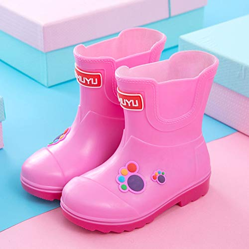 ZJOUJ Regenstiefel- Kinder nette wasserdichte rutschfeste Stiefel, Jungen und Mädchen Gummischuhe Regen Stiefel (Farbe : Pink, größe : 26 yards) (Regen Jungen Spiderman Stiefel)