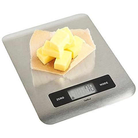 VonShef Balance Plate-Forme de Cuisine Electronique Digitale Grande Capacité 5kg
