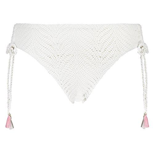 Hunkemöller Damen Rio-Bikinislip Twisted Ties 134072 Weiß M