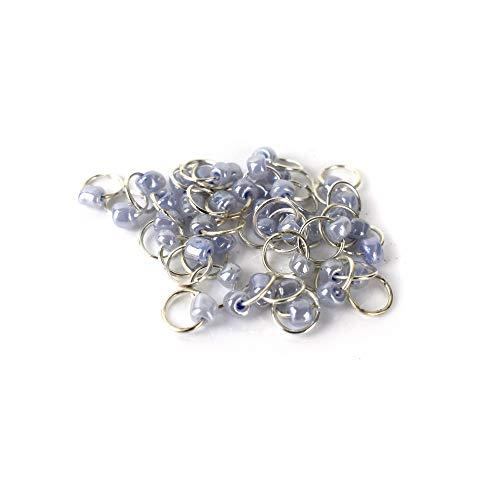 l Nail Silber Ring Nailart Nagelschmuck - Piercing Lavendel 10 Stück ()