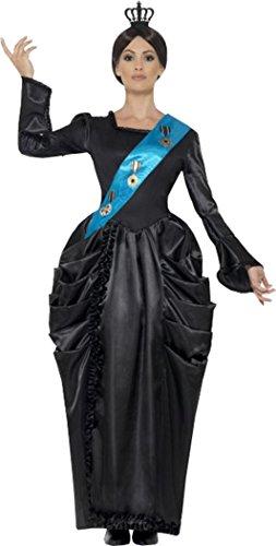 eid Großbritannien Queen Victoria Deluxe Kostüm Outfit, Schwarz (Queen Victoria Kostüme)