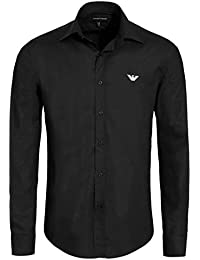 Emporio Armani - Chemise homme noire à manches longues