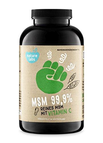 MSM Kapseln mit Vitamina C - 365 vegane Kapseln, 6 Monatsvorrat. Hochdosiert. 1200 mg MSM (Methylsulfonylmethan) mit Vitamin C. Laborgeprüft. Ohne Zusätze. Hergestellt In Deutschland.