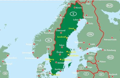 Schweden 1 : 400 000. Autoatlas: Alle Infos bei Amazon