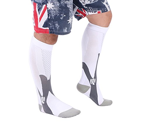 Compression Socks,BEST Graduated Athletic Fit for Running,Nurses,Shin Splints,Flight Travel,&Maternity Pregnancy.Boost Stamina,Circulation,& Recovery for Men & Women - 1 pair
