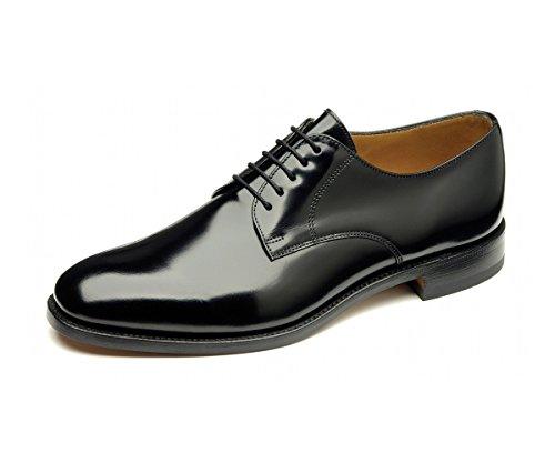 Loake 200B Oxford Capped hombre, color negro pulido funda de piel zapatos de cordones, color Negro, talla 40 EU