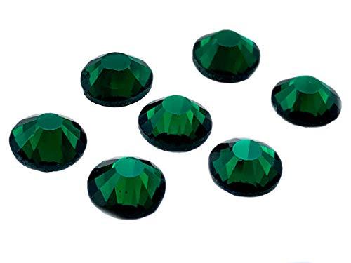 Am Kostüm Auf Lieferung Tag Nächsten - Eimass, DMC-Hotfix-Strasssteine, Glas-Diamanten, Kristalle, Edelsteine, Paket mit 1.440Kristallen,  mit klebender Rückseite zum Heißkleben, smaragdgrün, 3 mm