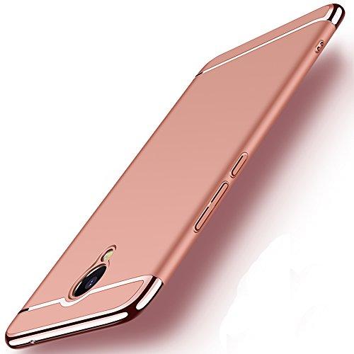 Coque Meizu M5 Note, MSVII® 3-in-1 Design PC Coque Etui Housse Case et Protecteur écran Pour Meizu M5 Note - Rouge / RED JY50072 Or rose