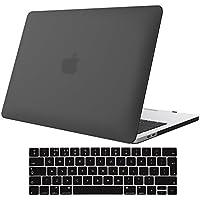 ProCase Funda para MacBook Pro 13 A1989 A1706 A1708 (2018 2017 2016), Ultra Delgado Carcasa Dura y Protector del Teclado Inglés para MacBook Pro de 13 Pulgadas con/sin Touch Bar y Touch ID –Negro