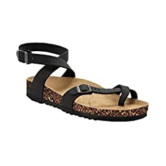 da01e1f8ab2049 Outgobuy Womens Fisherman Sandals Flat Ankle Buckle Gladiator Thong Flip  Flop Casual Summer Shoes